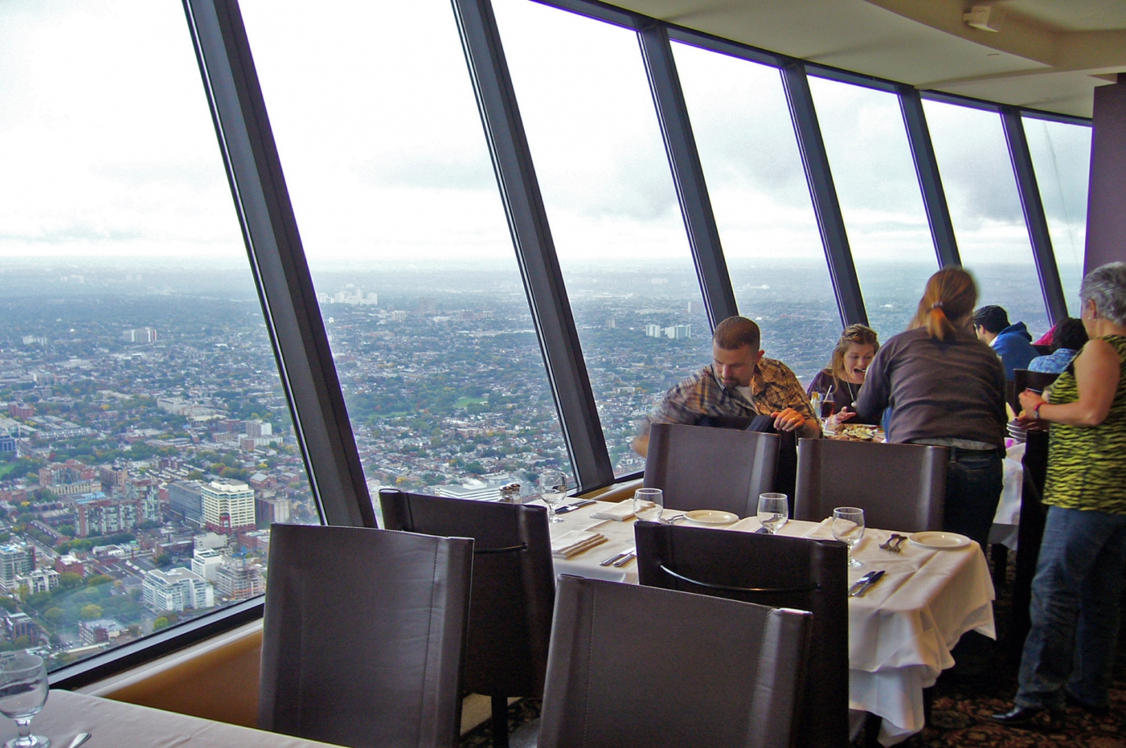dining room inside a skyscraper