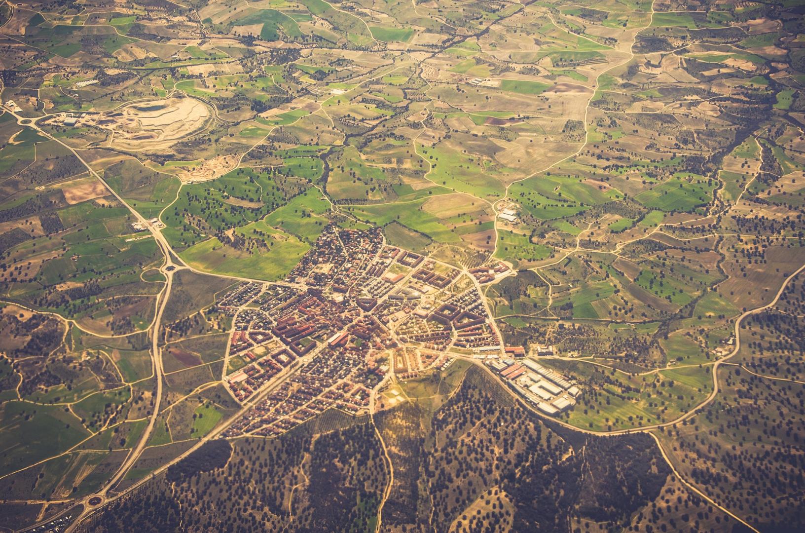 Retail Trade Area Aerial Photo