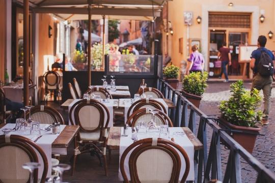 empty restaurant patio