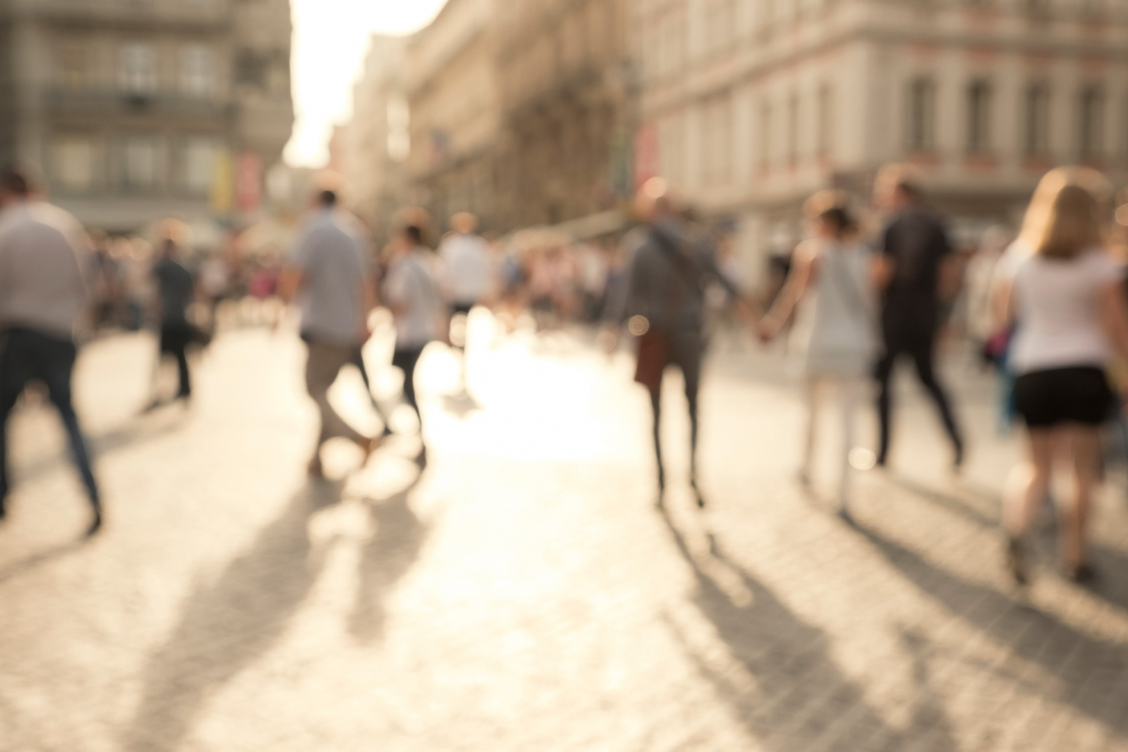 Consumers walking in successful placemaking project area