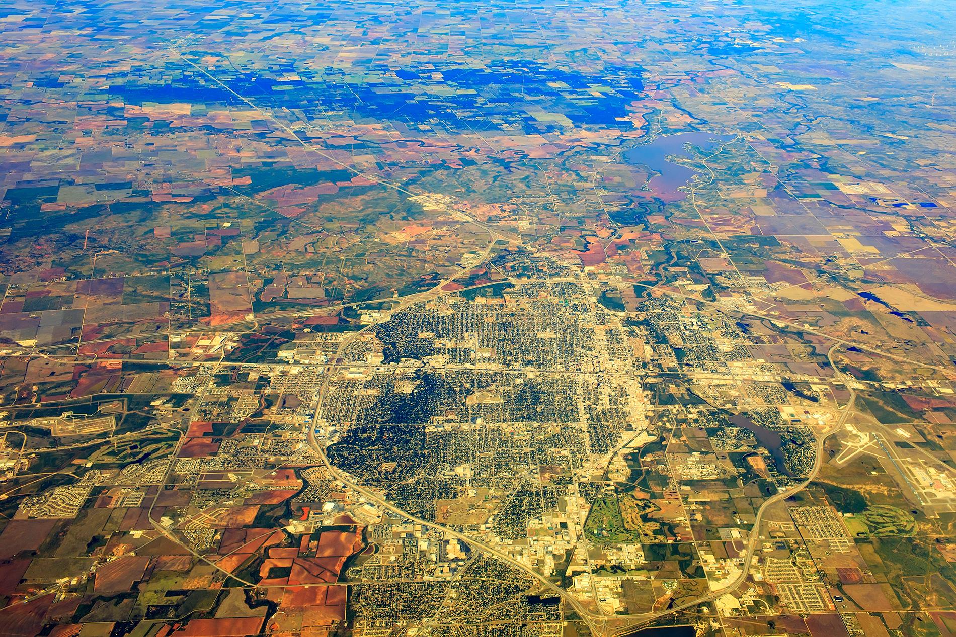 Aerial view of Wichita Falls Texas_Istock-494876232