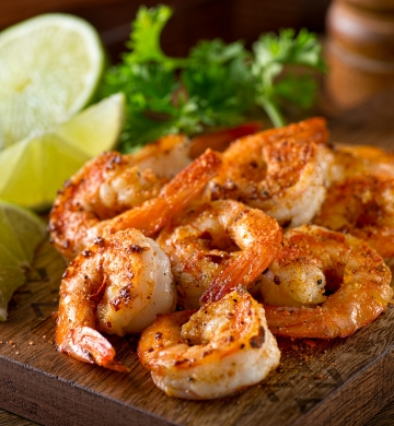 Shrimp on plate