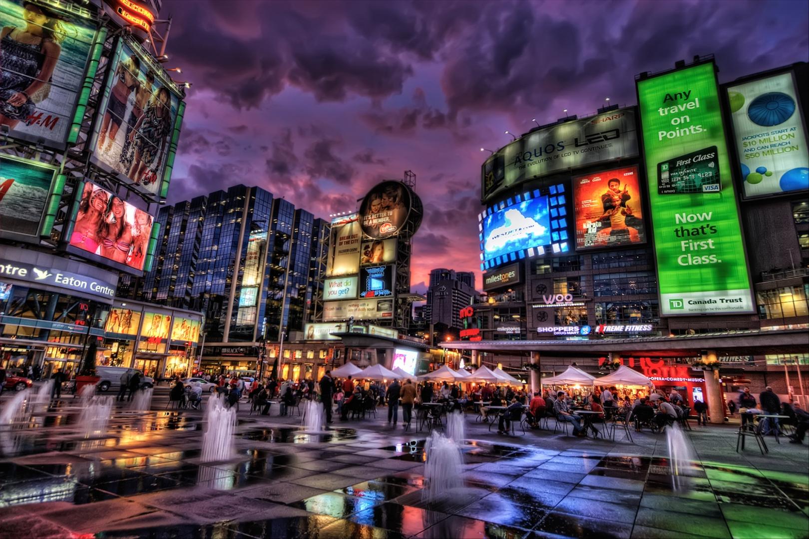 Dundus square in Toronto Canada