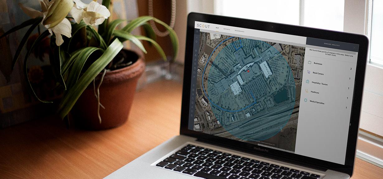 Shopping Center Insights software in Buxton Analytics Platform