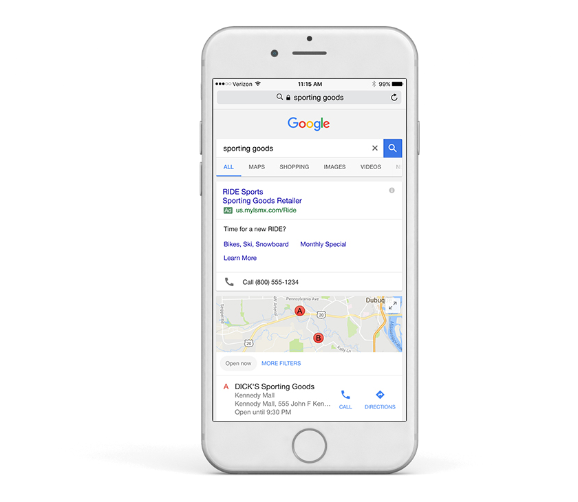 Quickly create a Google AdWord campaign on your mobile device with Buxton's local store marketing solution.